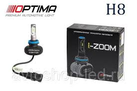 H8 Optima LED i-ZOOM, Seoul-CSP, White, 9-32V
